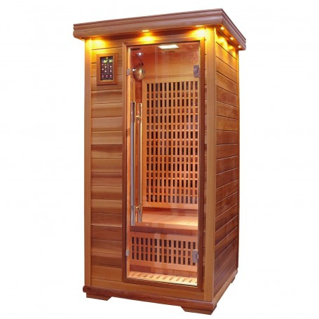 Outgoing products Apollon Single sauna tourmaline hemlock