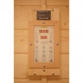 Outdoor sauna Infrared Sungarden Multi-sauna Multi-sauna for 4 to 5 peopleSize: 1780 x 1780 x 2409 mmWood: Finnish Gray