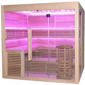 Outgoing products Sauna Hot Cube for 6-7 persons Outside dimensions: Length: 2000 mmHeight: 2000 mmWidth: 2000 mm
