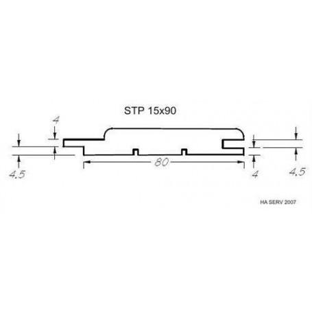 Sauna panel ASP 15x90 Sauna panel in asp. 15x90mm Length: 2.1m. 6pcs / pts Length: 2.1m. 6pcs / pct