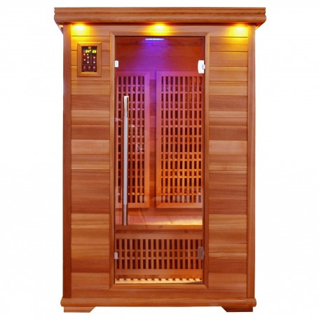 Outgoing products Sauna Apollon Tourmaline Sauna outer dimensions: Length: 1200 mm Height: 1900 mm Depth: 1050 mm excl.
