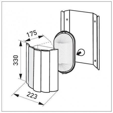 Lighting Sauna fixture AVH15.2. Corner model including screen.
