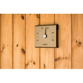 Thermo and hygrometer Rento Sauna thermometer in aluminum Champagne