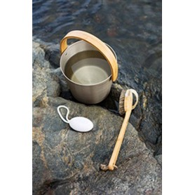 Rods and buckets Rento sauna bucket aluminum, champagne