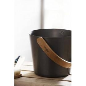 Rods and buckets Rento Sauna bucket Aluminum, graphite gray