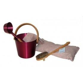 Rods and buckets Rento sauna bucket aluminum, plum red
