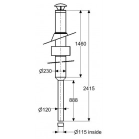 Chimneys and smoke pipes for sauna stoves Chimney Schiedel, complete foundation 2.5 m