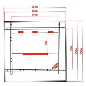 Outdoor sauna Infrared Sungarden duo Infrared sauna for 2 persons Size: 1506 x 1546 x 2000 mmWood: Hemlock Heating system: