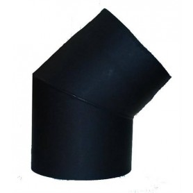 Chimney Accessories for Fireplaces SVT Smoke Pipes 45 degrees diameter 150 mm.