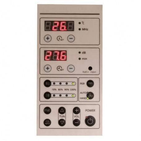 IR sauna with control panel for easy control of sauna