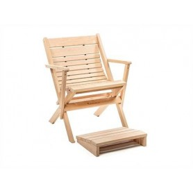 Sauna chair and stool Footrest Fortis