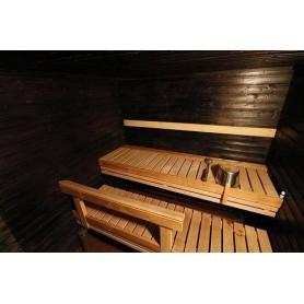 Sauna Oil   Sauna wax Black sauna cover for panels 0.9l