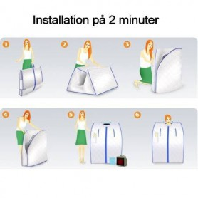 Portable infrared sauna easy to install