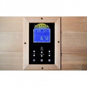 IR Glossy sauna for 1 person with control panel