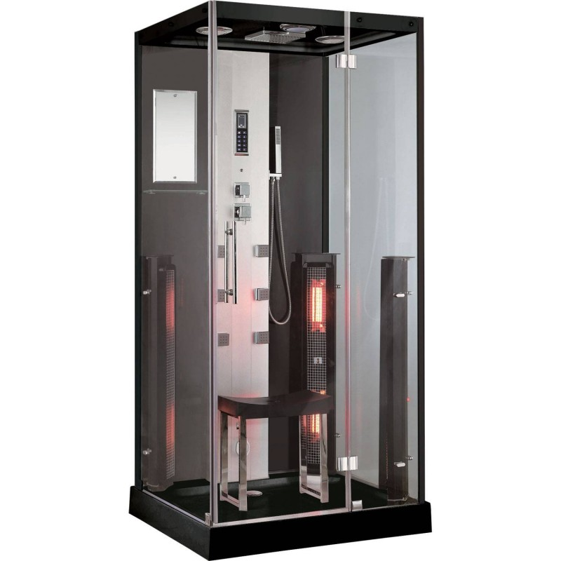 Shower cubicle Infrared InfraShower Aqua Black-Single Exterior Dimensions.Length: 1000mmHeight: 2150mmWidth: 900mmSold out !. Th