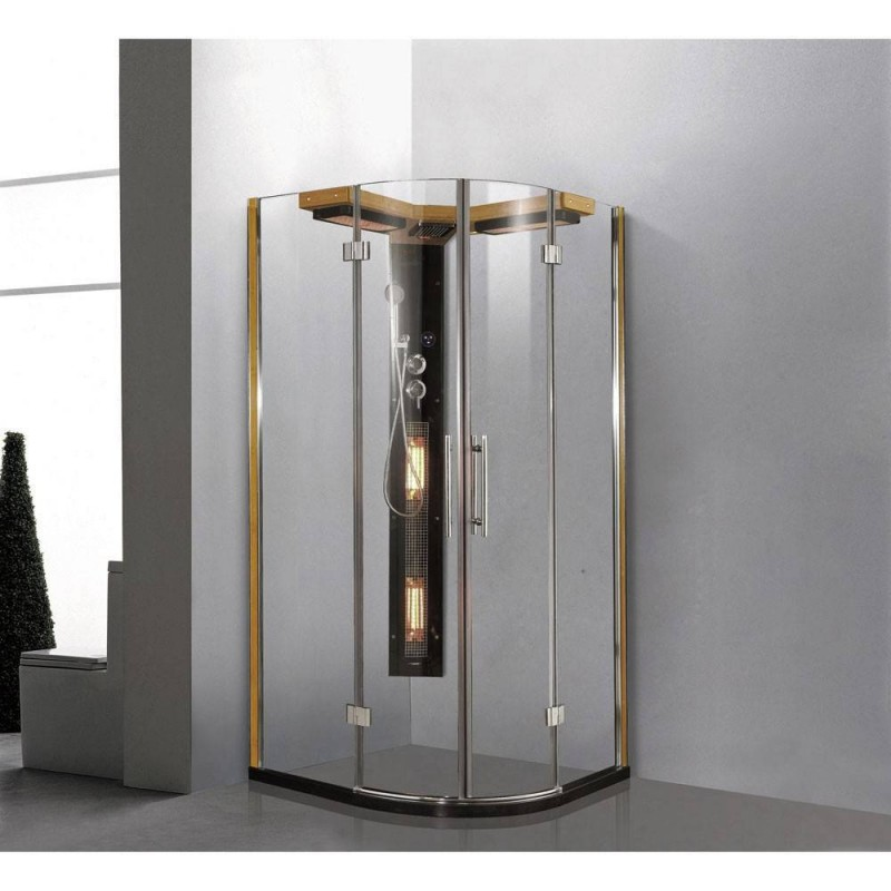 Shower cubicle Infrared Aqua Magic shower corner Exterior dimensionsLength: 1000 mmHeight: 1980 mmWidth: 1000mmSold out !. The p