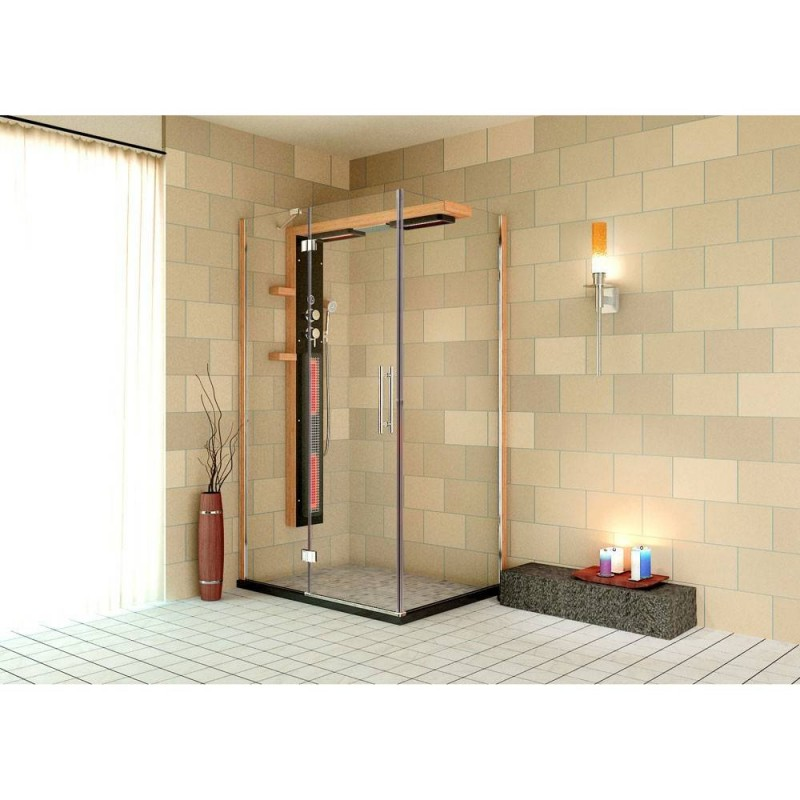 Shower cubicle Infrared Aqua Plus shower corner Exterior dimensions.Length: 1200 mmHeight: 1980 mmWidth: 900 mm Outgoing product