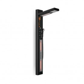 Shower cubicle Infrared IR- Shower set black Dimensions Length: 690 mmHeight: 1900 mmWidth: 24.8 mm Outgoing item!