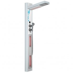 Shower cubicle Infrared IR- Shower set white Dimensions Length: 690 mmHeight: 1900 mmWidth: 24.8 mmDelivery time: 2-3 days (Avai