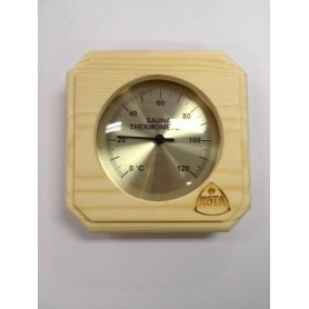 Thermo and Hygrometer Kota Sauna Thermometer Square Pine - 220TP