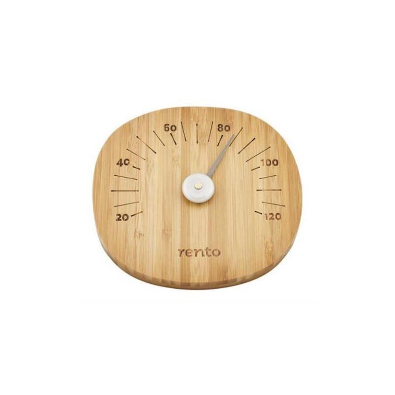 Thermo and hygrometer Rento Sauna thermometer, dark bamboo