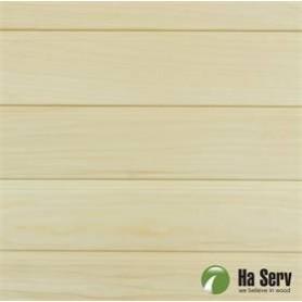 Sauna panel ASP 15x125 Sauna panel in asp. 15x125mm Length: 2.4 m. 6 pcs. Length: 2.4 m. 6 pcs.