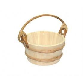 Rods and buckets Kota Sauna bucket, pine / plastic, bamboo handle 4 L 341P