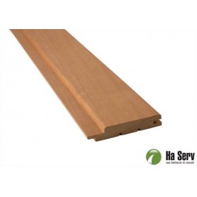 Heat treated ASP 15x90 Sauna panel in heat treated aspen. 15x90mm Length: 2.1m. 6pcs / pts Length: 2.1m. 6pcs / pct