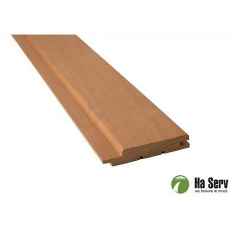Heat treated ASP 15x90 Sauna panel in heat treated aspen. 15x90mm Length: 2.4 m. 6 pcs. Length: 2.4 m. 6 pcs.