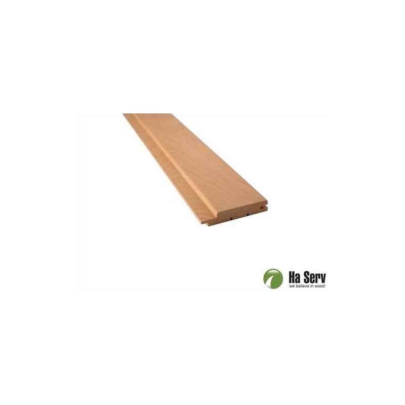Sauna panel AL 15x90 Sauna panel al. 15x90mm Length: 2.4 m. 6 pcs. Length: 2.4 m. 6 pcs.