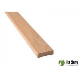 Wooden moldings for sauna 12x42 Lining in al. Length: 2.4 m