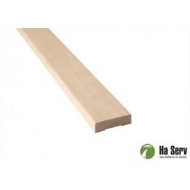 Wooden moldings for sauna 12x42 Liner in aspen. Length: 2.4 m