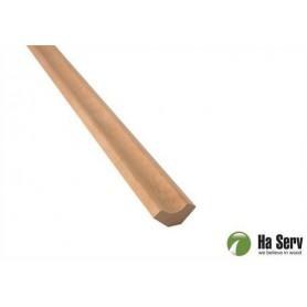 Wooden moldings for sauna 14x31 Corner / ceiling strip in al. Length: 2.4 m