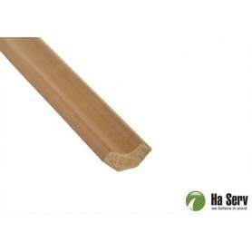 Wooden moldings for sauna 14x31 Corner / ceiling strip in heat treated aspen. Length: 2.4 m