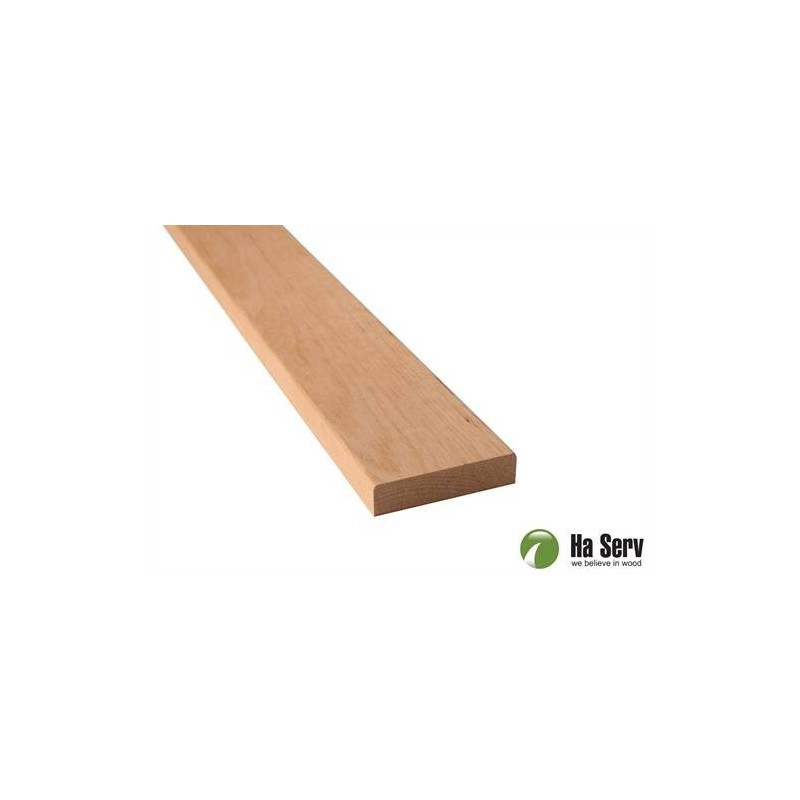 Wooden moldings for sauna 14x60 Lining in al. Length: 2.4 m