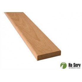 Wooden moldings for sauna 14x60 Lining in heat treated aspen. Length: 2.4 m
