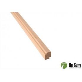 Wooden moldings for sauna 15x18 Corner / Ceiling strip in al. Length: 2.4 m