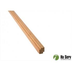 Wooden moldings for sauna 15x18 Corner / ceiling strip in heat treated aspen. 2.4 m