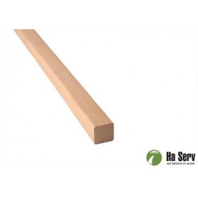 Wooden moldings for sauna 21x21 Square strip, round corners in al. Length: 2.4 m
