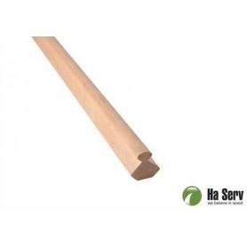 Wooden moldings for sauna 25x25 Inner corner strip in Al. Length: 2.4 m