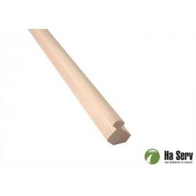 Wooden moldings for sauna 25x25 Interior corner moldings in Asp. Length: 2.4 m