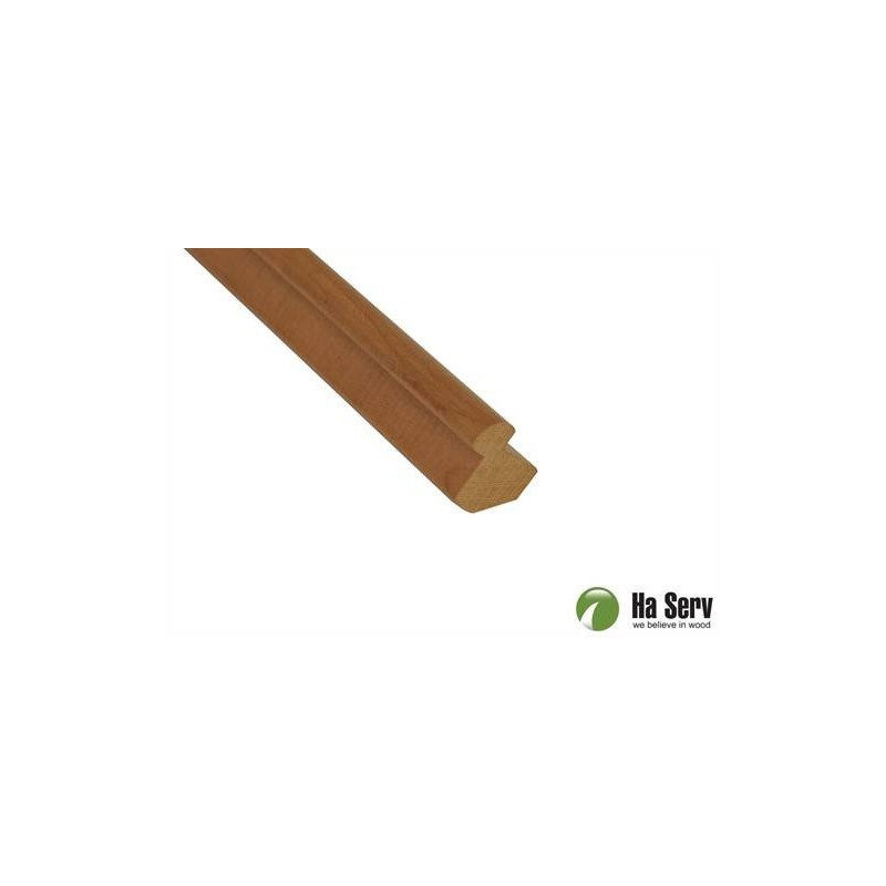 Wooden moldings for sauna 25x25 Inner corner strip in heat treated aspen. 2.4 m