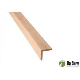Wooden moldings for sauna 27x27 Outside corner strip in al. Length: 2.4 m