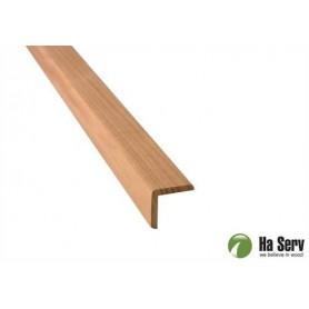 Wooden moldings for sauna 27x27 Exterior corner strip in heat treated aspen. 2.4 m
