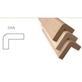 Sauna bar AL 28x45 Sauna bar front al 80x108mm Length: 2.4 m