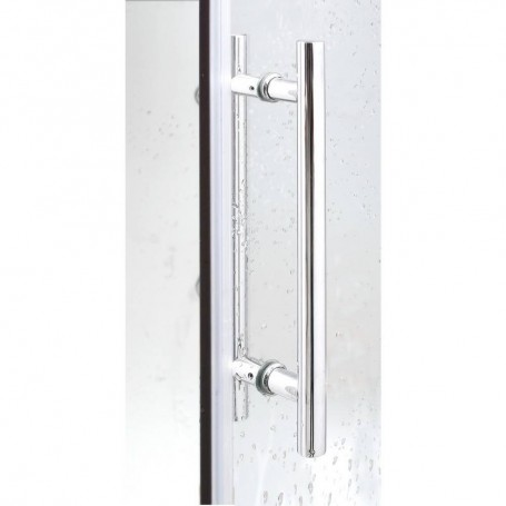 Shower cubicle Infrared InfraShower Aqua Silver - Single Exterior dimensions.Length: 1000mmHeight: 2150mmDepth: 900mmSold out !.