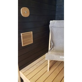 Lighting Sauna lamp Recessed Kuivi Black