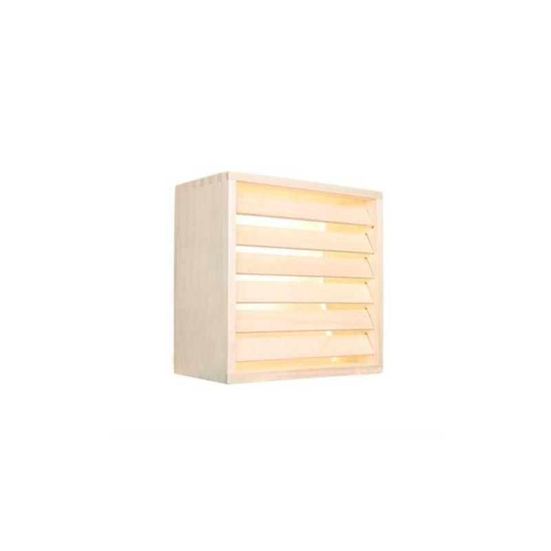 Shades Lampshade in pine, 6 ribs wall model