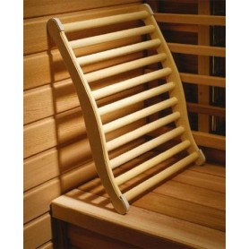Backrest, armrests and breaks Ergonomic sauna backrest