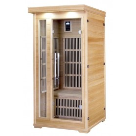IR sauna for 1 person. Size: 900 x 900 x 1900 mm